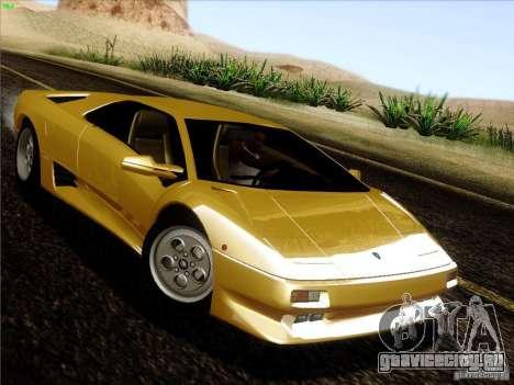 Lamborghini Diablo VT 1995 V3.0 для GTA San Andreas вид сзади