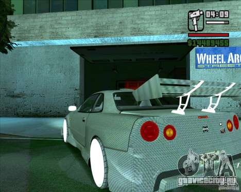 Nissan Skyline для GTA San Andreas вид справа