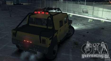 Hummer H1 4x4 Extras для GTA 4 вид сзади слева