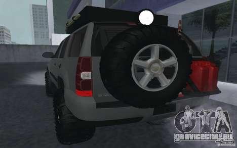 Chevrolet Tahoe для GTA San Andreas вид справа