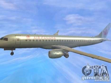 Embraer ERJ 190 Air Canada для GTA San Andreas вид сверху