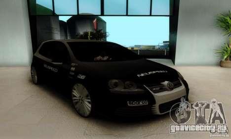 Volkswagen Golf R32 для GTA San Andreas вид сзади