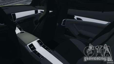 Porsche Panamera Turbo 2010 для GTA 4 вид изнутри