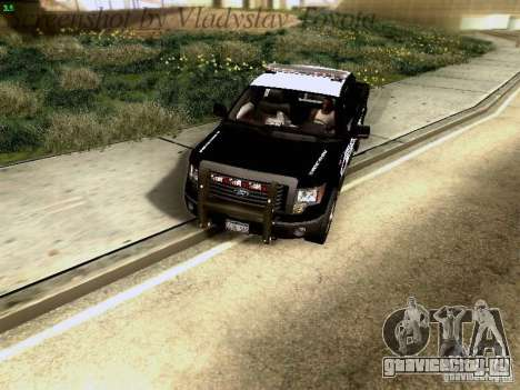 Ford F-150 Interceptor для GTA San Andreas вид изнутри