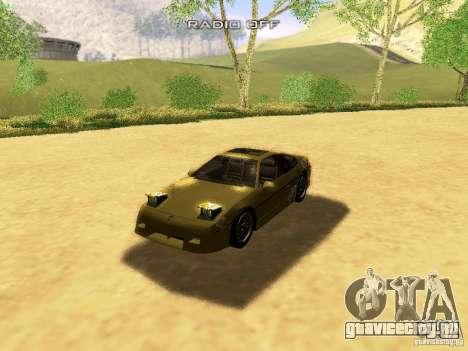 Pontiac Fiero V8 для GTA San Andreas салон
