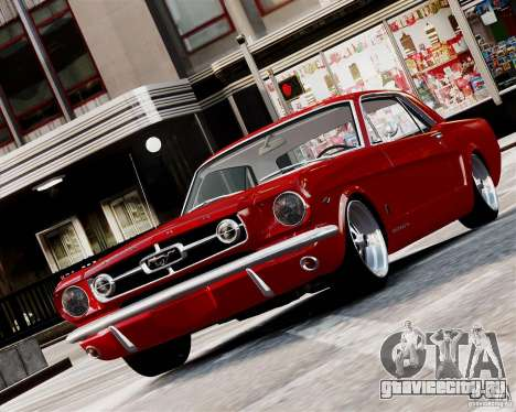 Ford Mustang GT MkI 1965 для GTA 4 вид слева