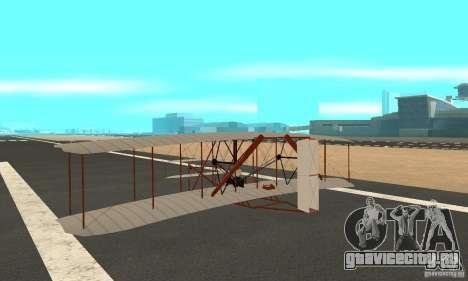 The Wright Flyer для GTA San Andreas вид сзади слева