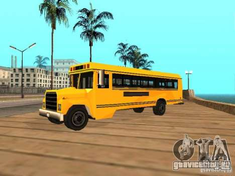 School bus для GTA San Andreas вид слева