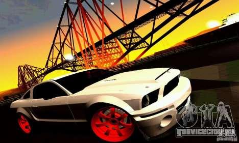 Shelby GT500 KR для GTA San Andreas колёса