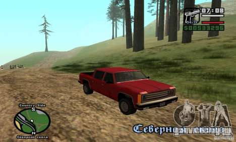 Rancher 4 Doors Pick-Up для GTA San Andreas вид сзади