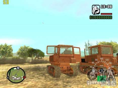 Трактор ДТ-75 Почтальон для GTA San Andreas вид сзади