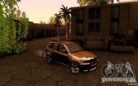 BMW X5M  2011 для GTA San Andreas вид сзади