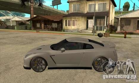 Nissan GT-R R35 2008 для GTA San Andreas вид слева