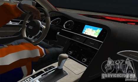 Audi A6 Avant Stanced для GTA San Andreas вид изнутри