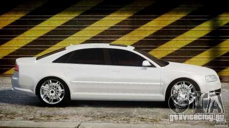 Audi S8 D3 2009 для GTA 4 вид сбоку