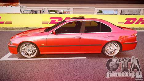 BMW 530I E39 stock chrome wheels для GTA 4 вид слева