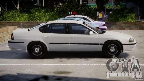 Chevrolet Impala Unmarked Police 2003 v1.0 [ELS] для GTA 4 вид слева
