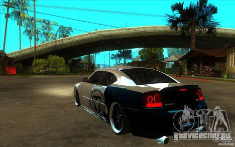 Dodge Charger SRT8 Tuning для GTA San Andreas вид сзади слева
