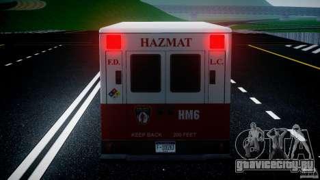 LCFD Hazmat Truck v1.3 для GTA 4 двигатель