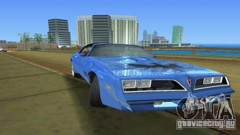 Pontiac Trans Am 77 для GTA Vice City вид справа