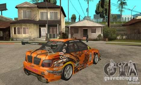 Subaru Impreza D1 WRX Yukes Team Orange для GTA San Andreas вид справа