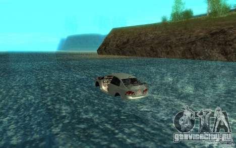 Honda Civic Mugen RR Boat для GTA San Andreas вид сзади слева