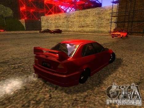 Mitsubishi Lancer Evolution VI GSR 1999 для GTA San Andreas вид справа