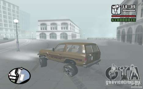Toyota Land Cruiser 70 для GTA San Andreas вид сбоку