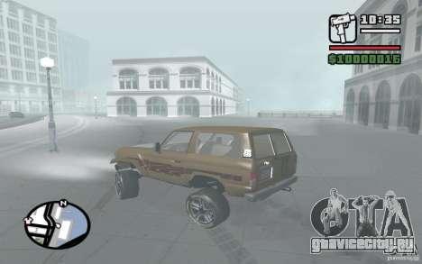 Toyota Land Cruiser 70 для GTA San Andreas вид сбоку
