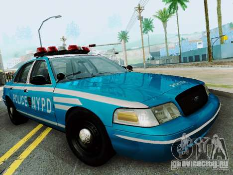 Ford Crown Victoria 2003 NYPD Blue для GTA San Andreas вид сзади