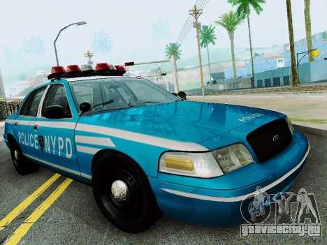 Ford Crown Victoria 2003 NYPD Blue для GTA San Andreas вид сзади