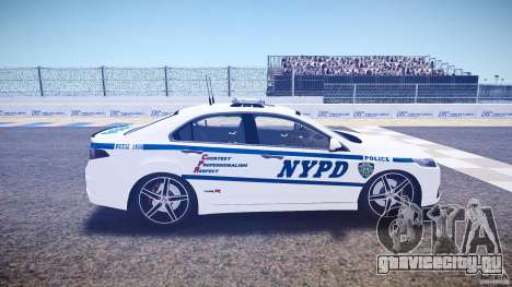 Honda Accord Type R NYPD (City Patro 1950l) ELS для GTA 4 вид изнутри