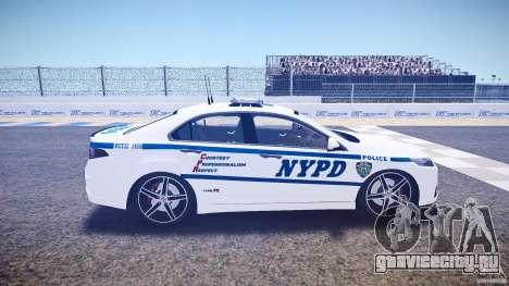 Honda Accord Type R NYPD (City Patro 1950l) ELS для GTA 4 вид изнутри