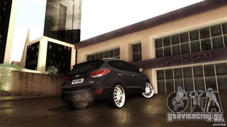 Hyundai iX35 Edit RC3D для GTA San Andreas вид изнутри