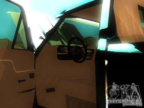 Ford F150 Off-Road для GTA San Andreas вид изнутри