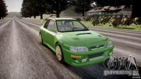Subaru Impreza 22b 1998 (final) для GTA 4 вид сзади