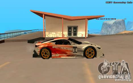 Lexus LFA Speedhunters Edition для GTA San Andreas вид сзади