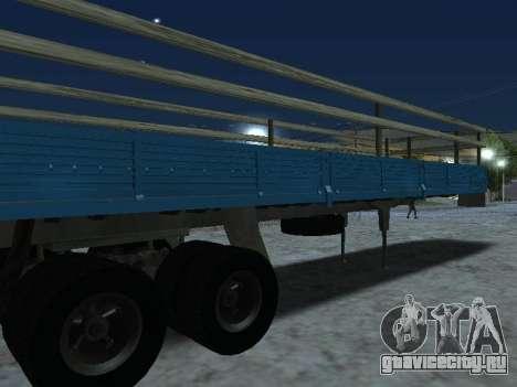 Прицеп для КамАЗа 5410 для GTA San Andreas вид справа