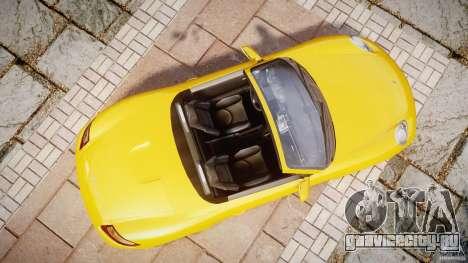 Porsche Boxster S для GTA 4 вид справа