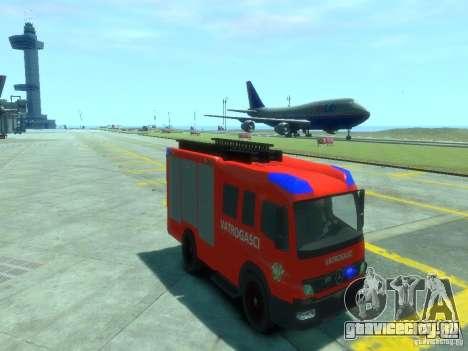 Mercedes-Benz Atego Fire Departament для GTA 4 вид сзади
