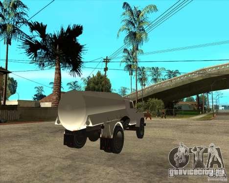ГАЗ-52 Бензовоз для GTA San Andreas вид сзади слева