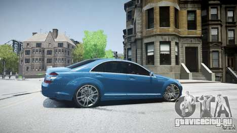 Mercedes Benz w221 s500 v1.0 sl 65 amg wheels для GTA 4 вид слева