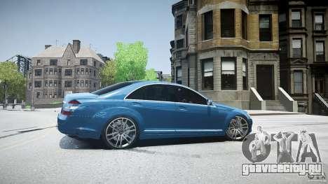 Mercedes Benz w221 s500 v1.0 sl 65 amg wheels для GTA 4 вид слева