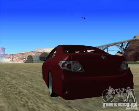 Toyota Corolla 2008 Tuning для GTA San Andreas вид справа
