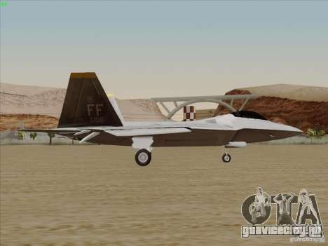 FA22 Raptor для GTA San Andreas вид слева