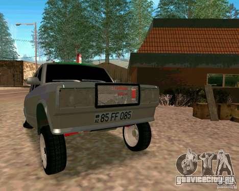 ВАЗ 2107 Full для GTA San Andreas вид сзади