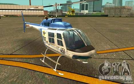 Bell 206 B Police texture1 для GTA San Andreas вид слева