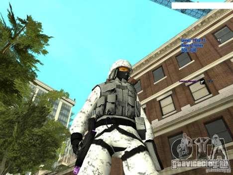 Зимний спецназ для GTA San Andreas второй скриншот
