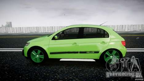 Volkswagen Gol Rallye 2012 v2.0 для GTA 4 вид слева