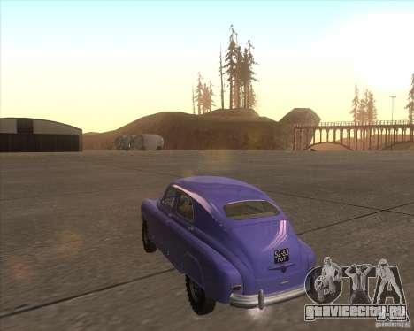 ГАЗ М72 для GTA San Andreas вид сзади слева